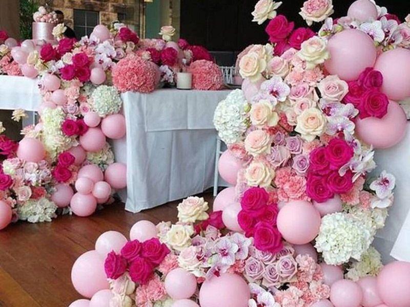 Оформление свадебной бум-зоны