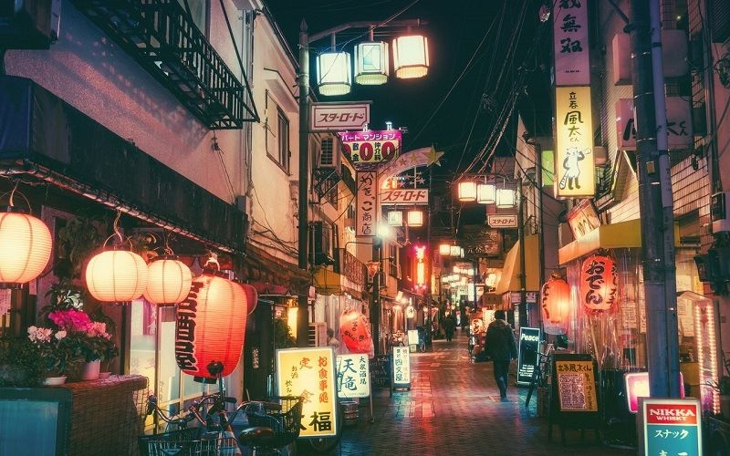 Красочные фонари японских улиц