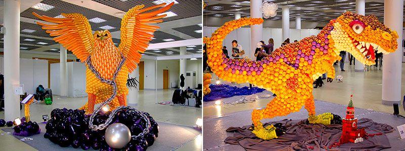 Скульптуры из воздушных шариков
