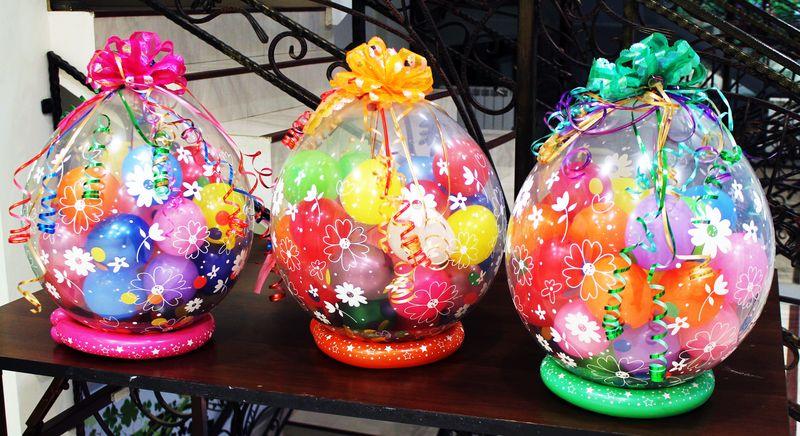 Воздушные шарики с сюрпризами