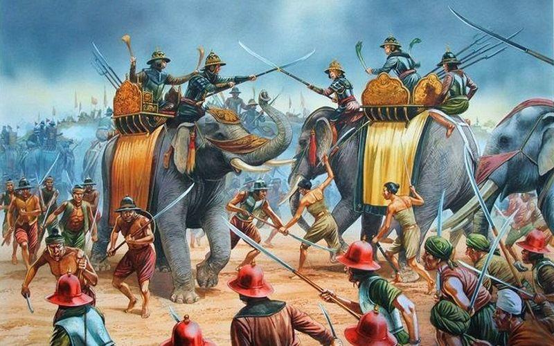Армия бирманского полководца Маха-Бандула