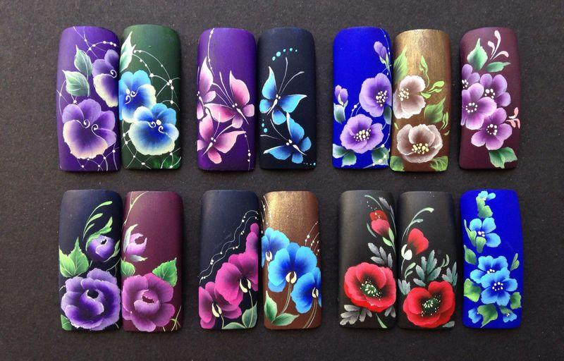 рисунки на ногтях акриловой краской фото