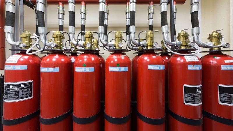 Газовая установка для тушения пожара