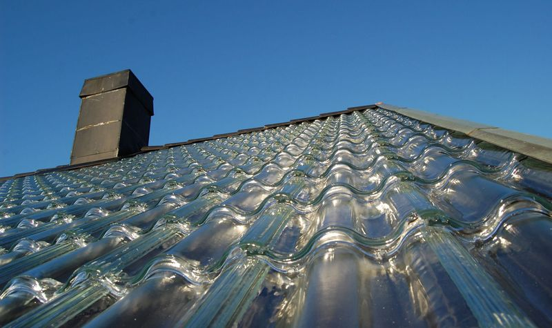 Glass roof tiles