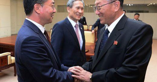 Рукопожатие в Корее