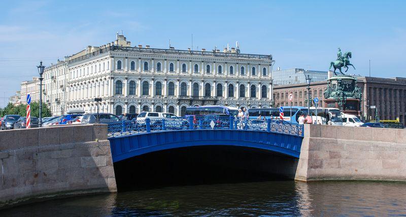 """""""Синий"""" мост в Санкт-Петербурге"""