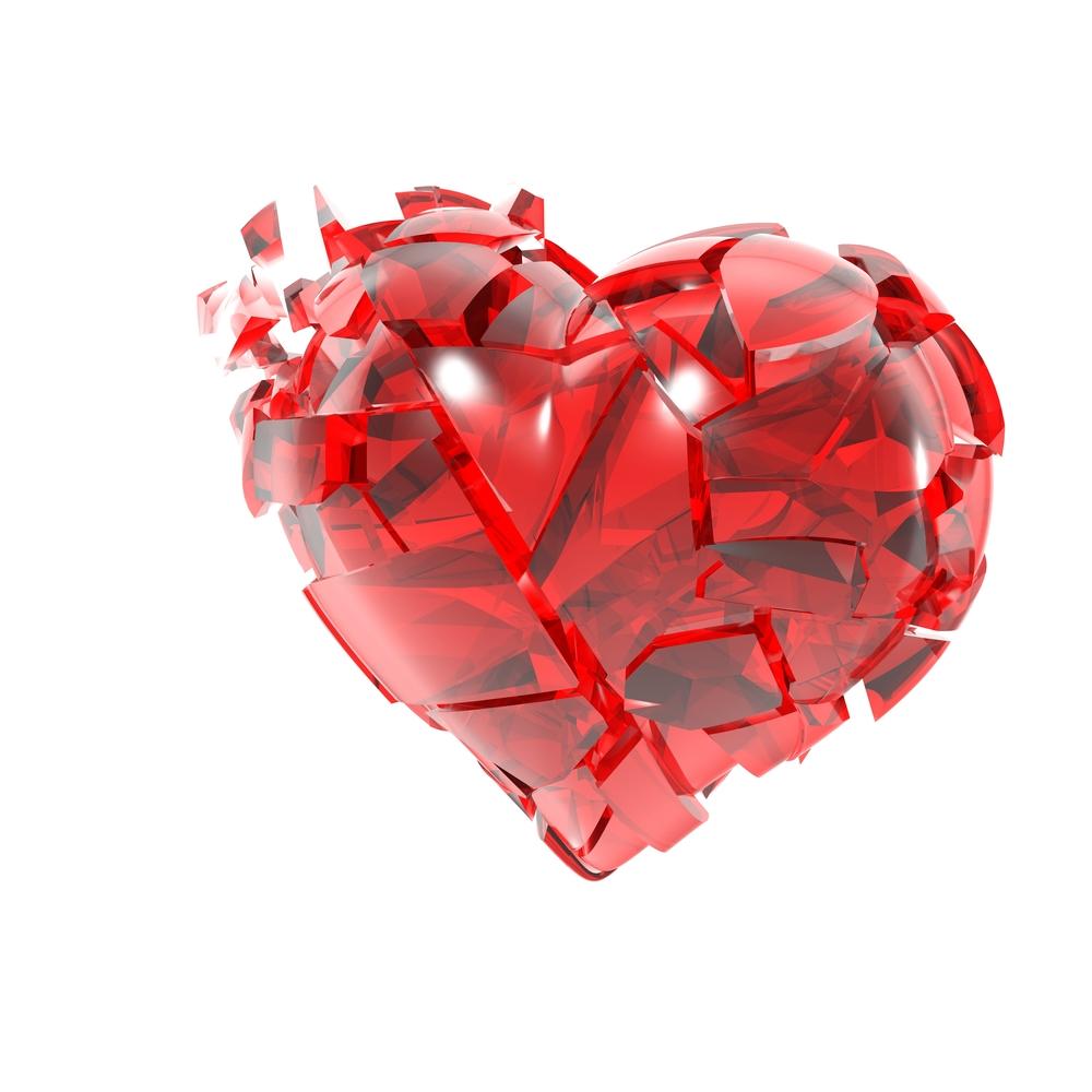разбитое сердце на мелкие осколки