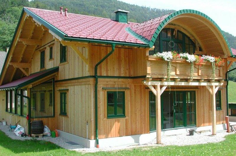 Дом из вертикального бруса