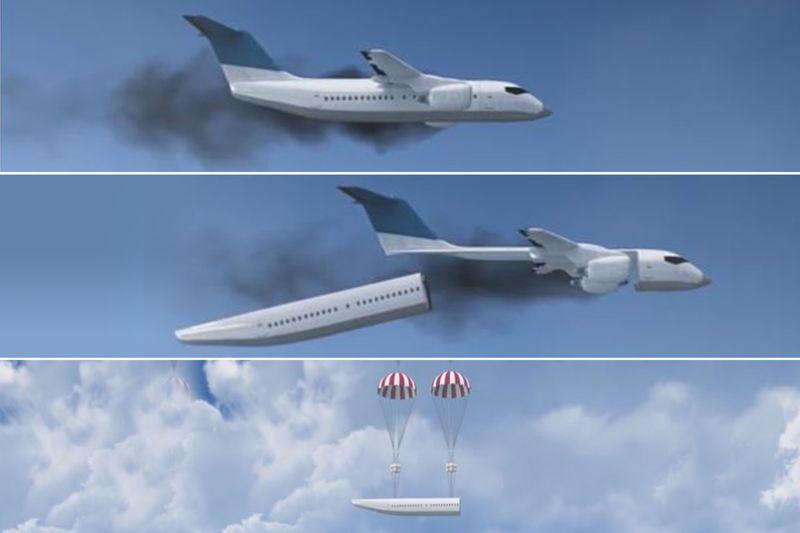 Самолет с отделяющейся капсулой