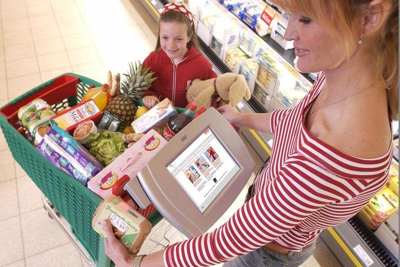 «Умные» тележки в супермаркетах