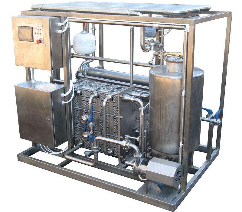 Электропастеризатор с промежуточным теплоносителем