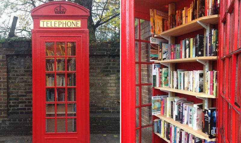 Книжная телефонная будка в Уэстбери