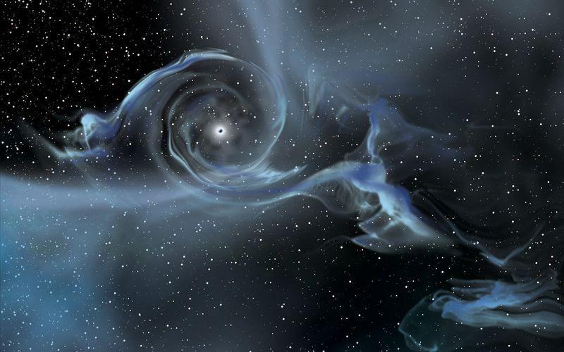 Вращающаяся черная дыра