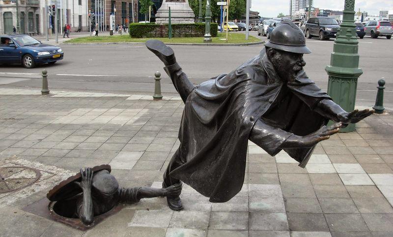 Памятник «De Vaartkapoen» в Бельгии