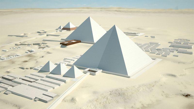Схематичное расположение пирамид