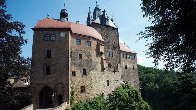 Центральные ворота замка Крибштайн