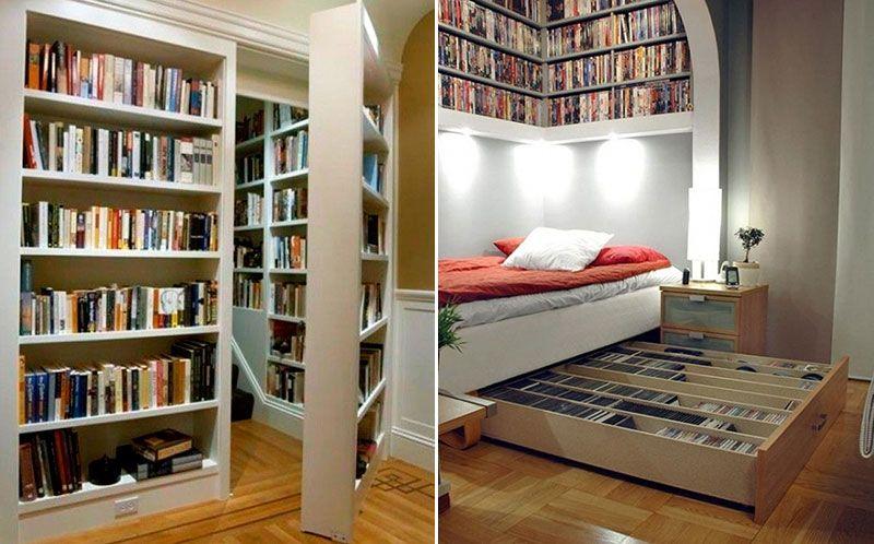 Разграничение пространства книжными шкафами