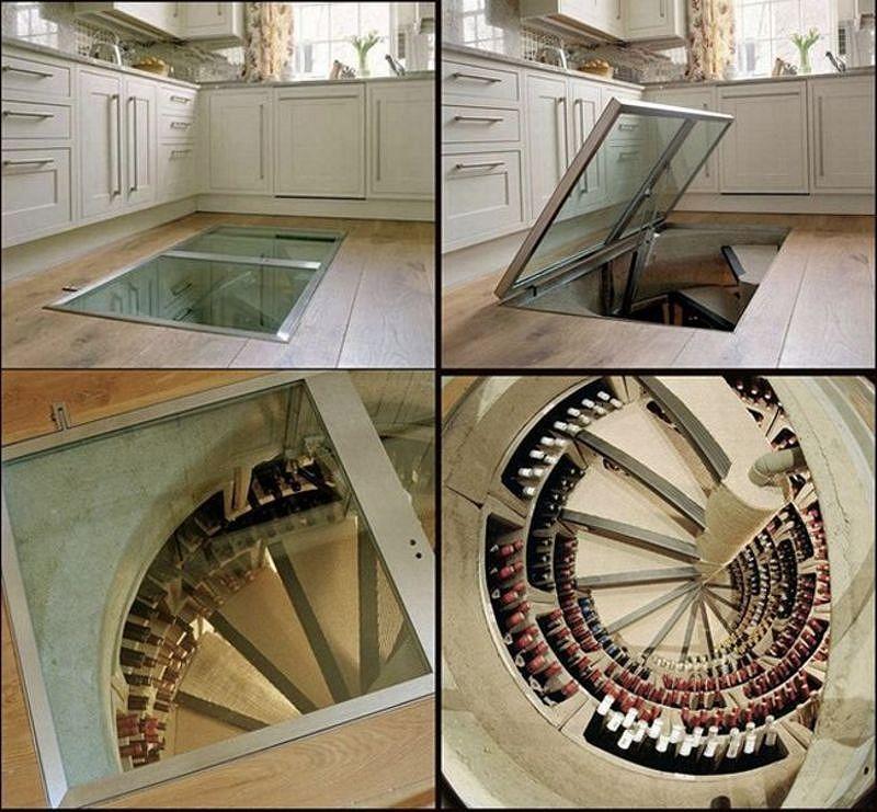 Винный погреб со стеклянным люком