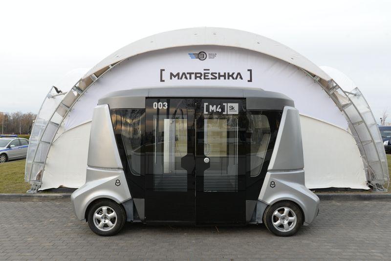 Первый самоуправляемый автобус в России