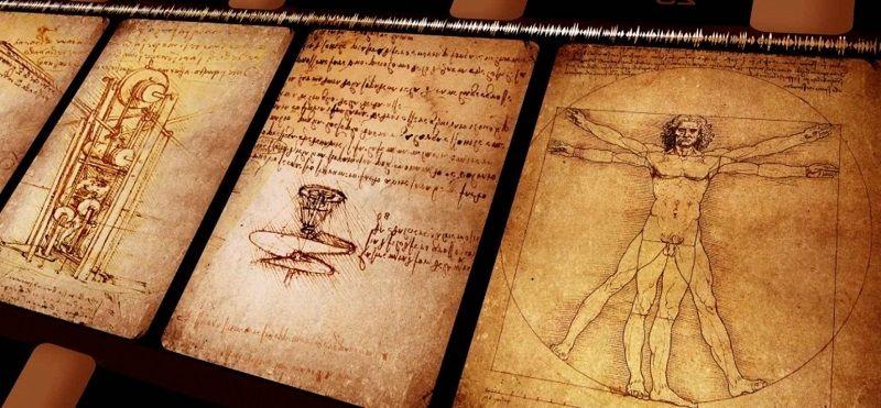 Тетрадь научных записей Леонардо да Винчи
