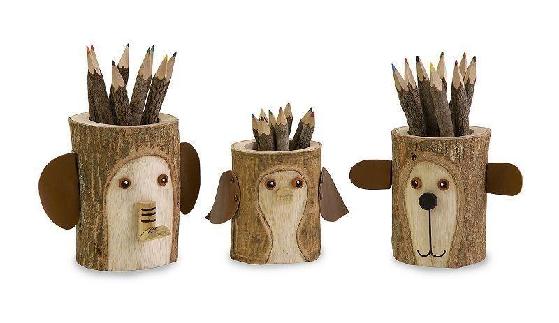 Карандашницы из дерева