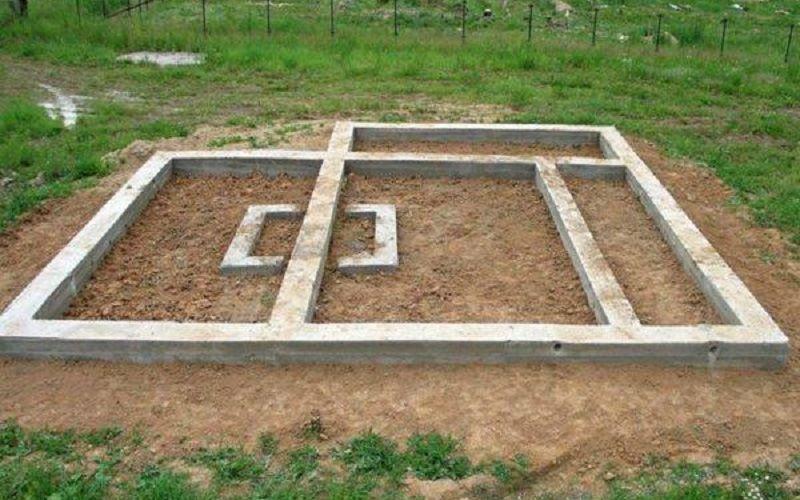 Фундамент для дома из двойного бруса