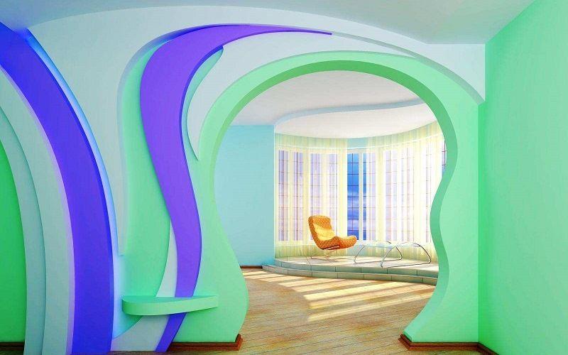 Покраска стен из гипсокартона водоэмульсионными красками