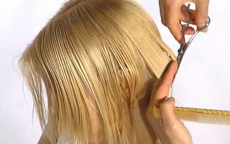 Начальное оформление стрижки каре