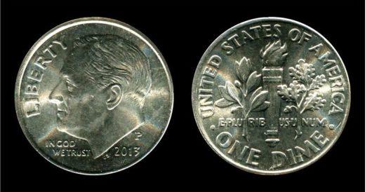 Монета 10 центов