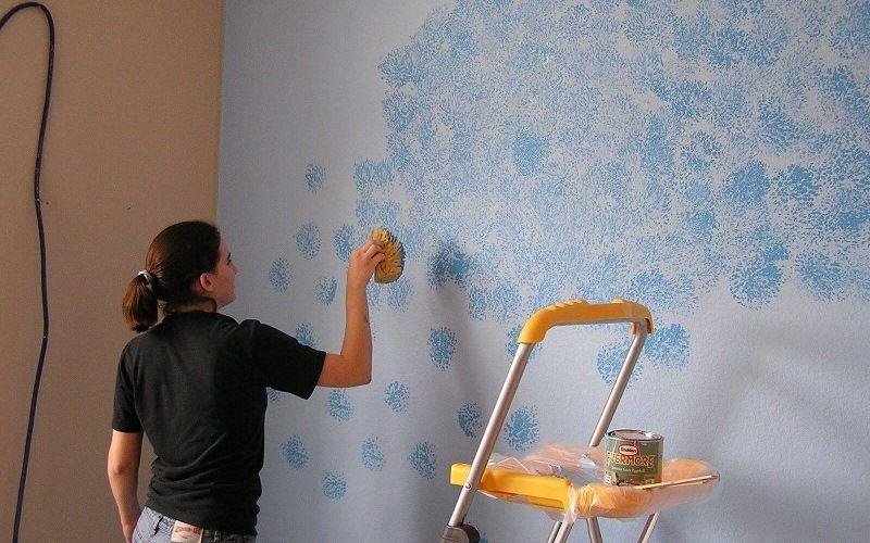 Спонжинг (покраска стен)