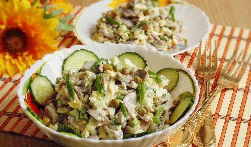 Салат с курными желудками