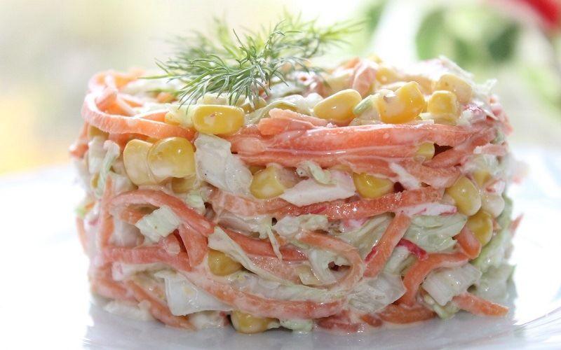 Корейский салат с крабовыми палочками