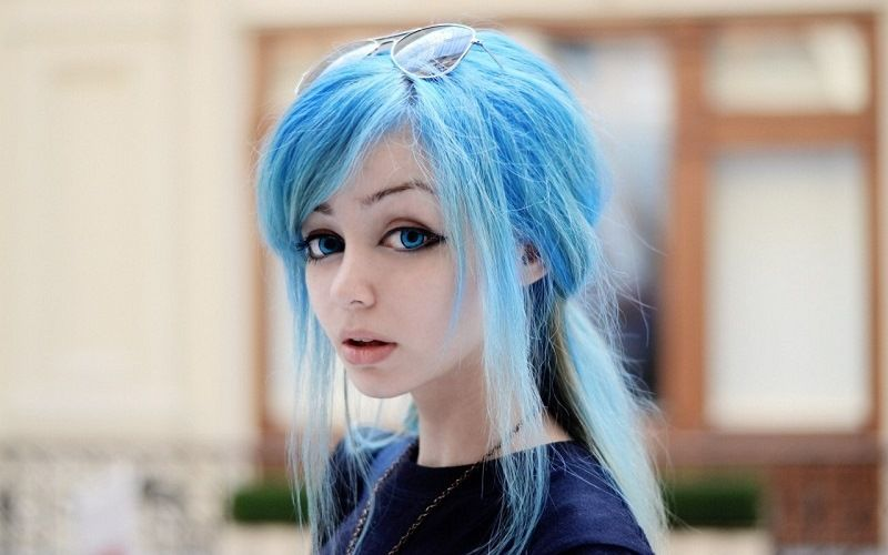 Синий цвет волос