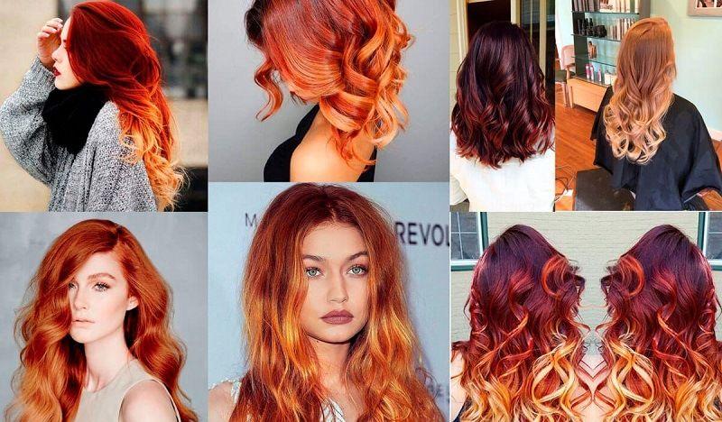 Техника огненных переливов в окрашивании волос