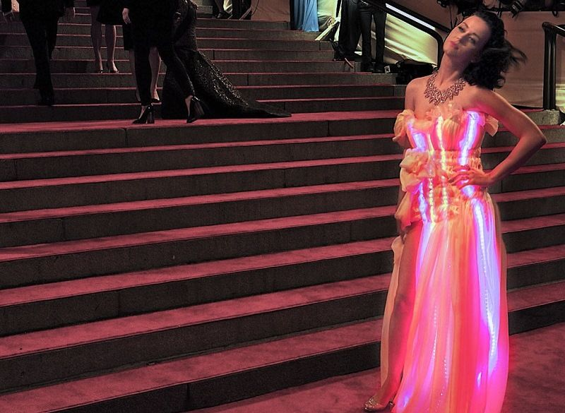 Backlit dress