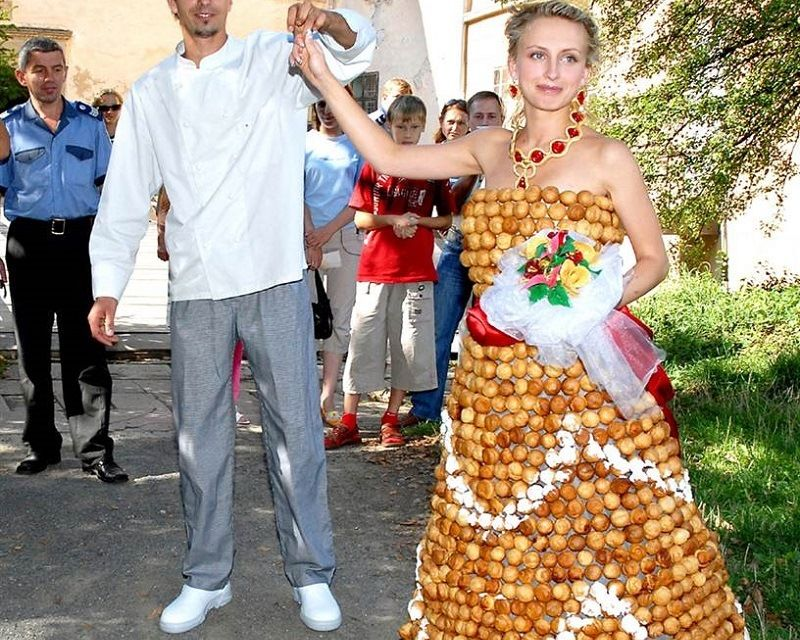 Dress from the pastry chef Valentina Stefano