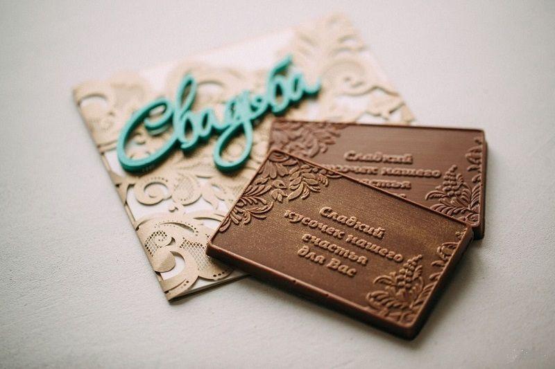 Пригласительные на свадьбу из шоколада
