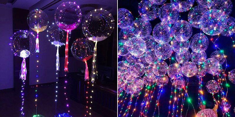 Воздушные шарики со светодиодами