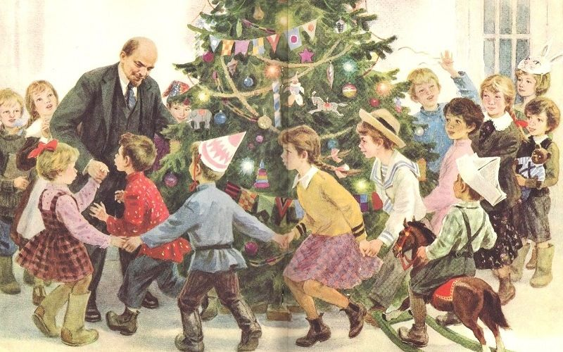 Ленин на детской елке