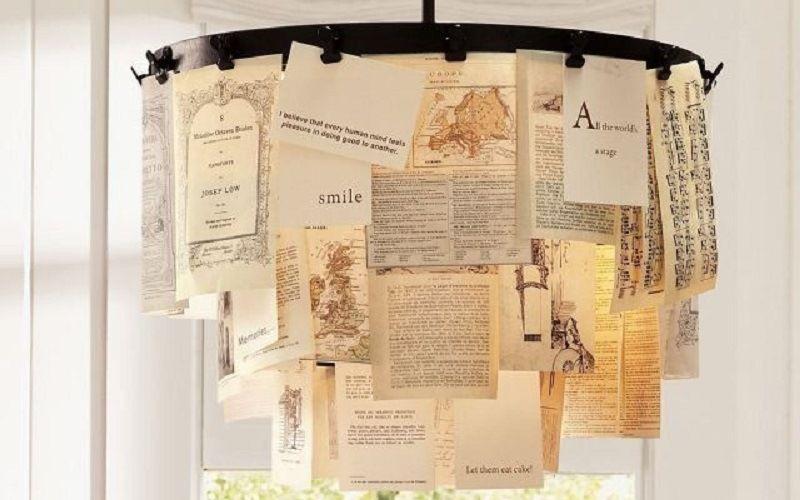 Креативная люстра из открыток и бумаги