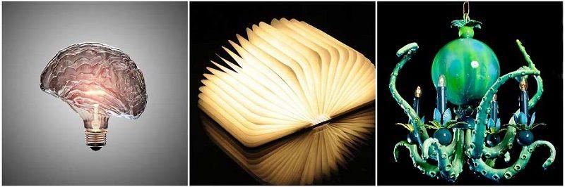 Креативные люстры и светильники