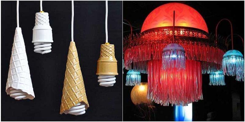 Люстры-медузы, светильники - рожки