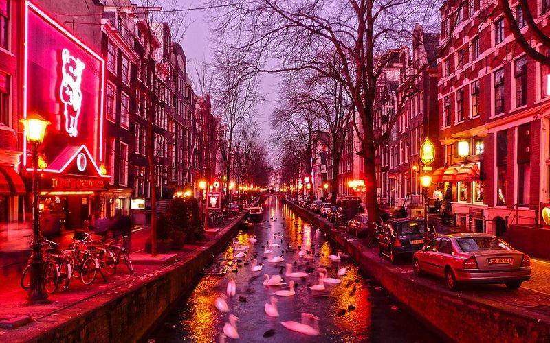 Red light street in Amsterdam