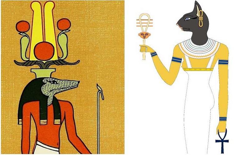 Бог Себек, Богиня Баст