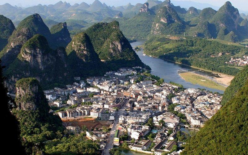 Городок Яншо на юго-востоке Китая