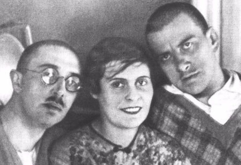 Осип и Лиля Брик, В.Маяковский