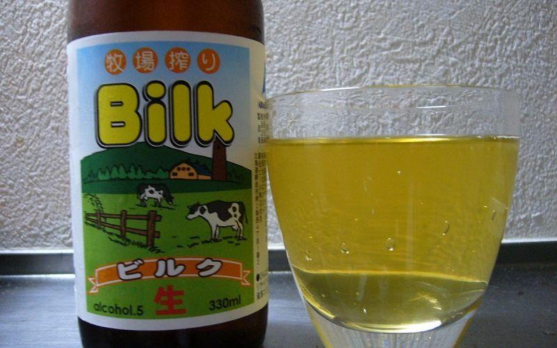 Японское пиво с молоком