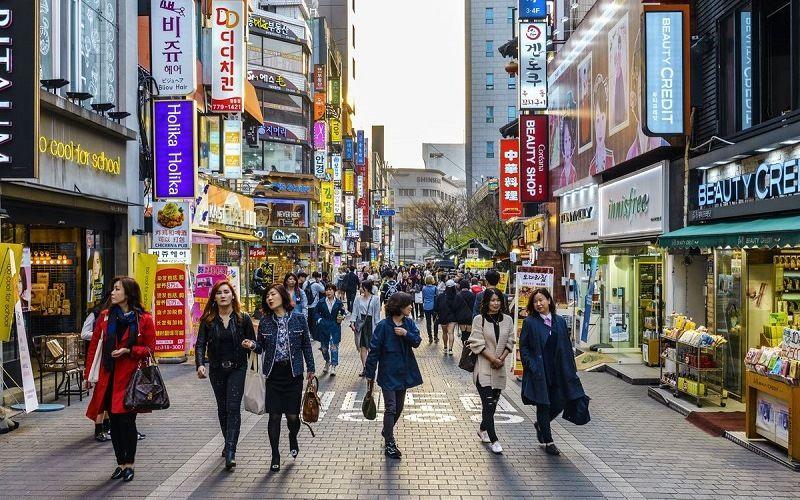 На улице в Южной Корее