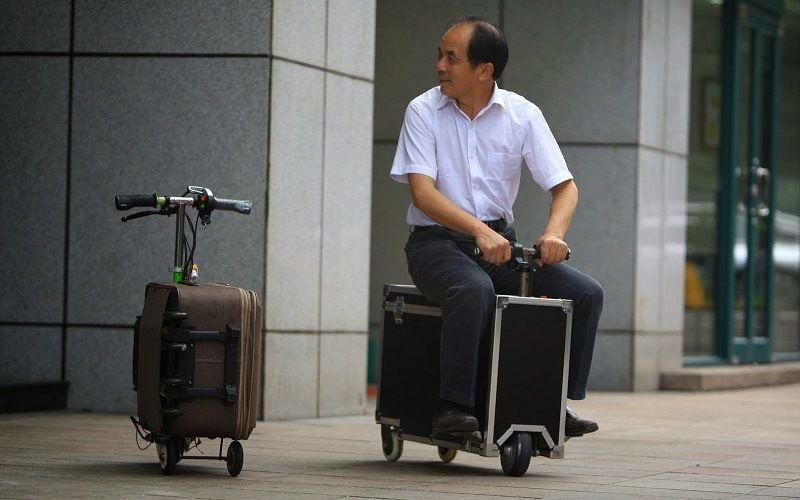 Транспортное средство Suitcase Scooter