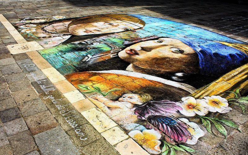 Изображения на тротуарах